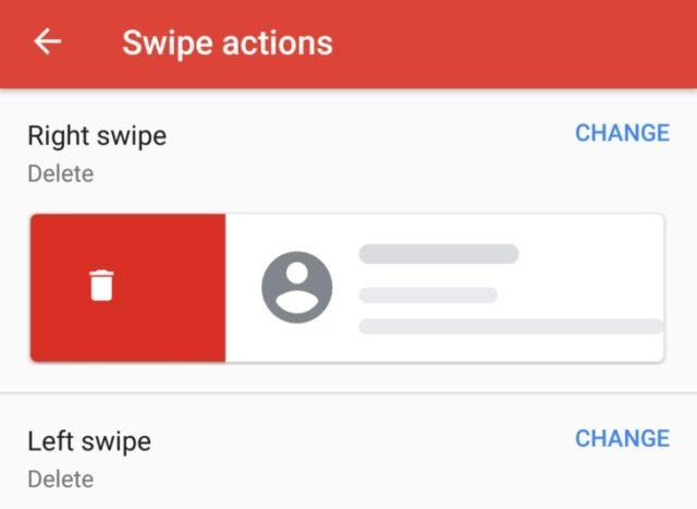 Gmailのアップデートで、カスタマイズ可能なスワイプアクションが可能