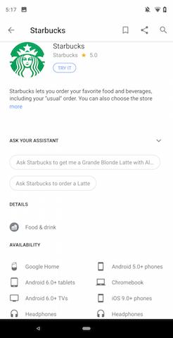 Google AssistantでStarbucksとDunkin 'Donutsから今すぐ注文可能