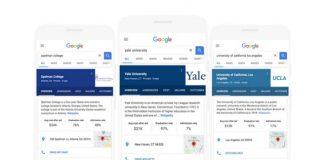 Google検索で大学の検索結果に関する詳細が表示される