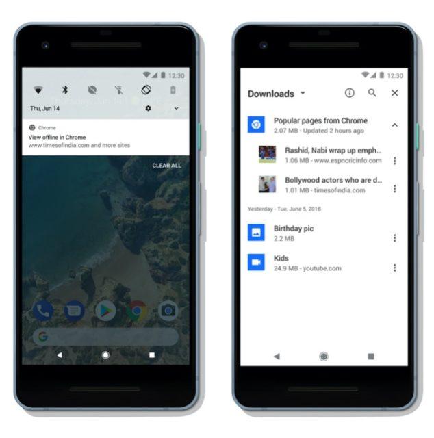 Google Chromeはオフライン購読のためのコンテンツをキャッシュ可能
