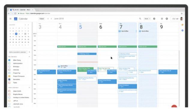 Google Calendarは不在時自動的に招待を拒否