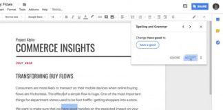 GoogleドキュメントがAIにより動作される文法チェックツールを取得