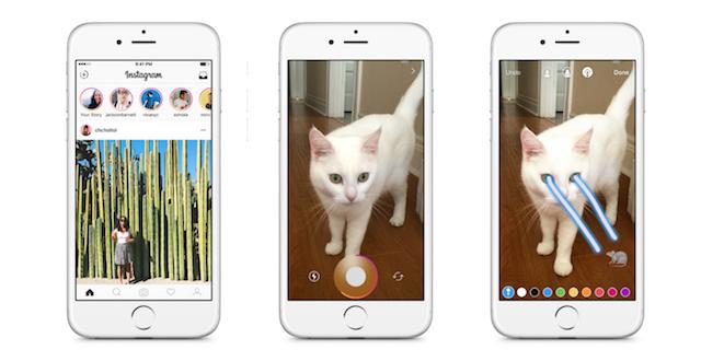 Instagram社は固定されたStories バー