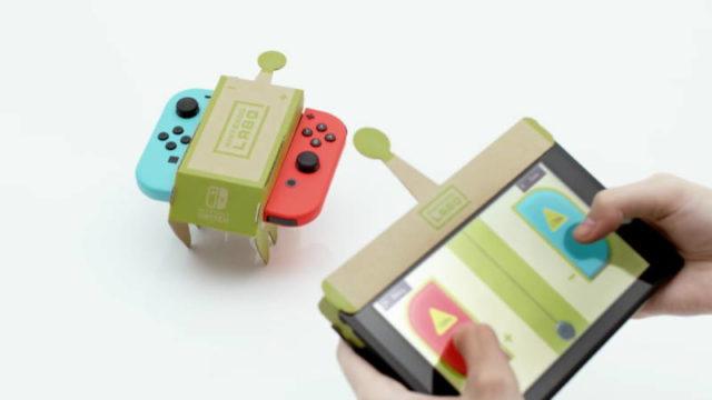 学校の先生が授業で Nintendo Laboを使用
