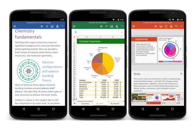 Microsoft社、Android & iOSでのOfficeの変更を公開