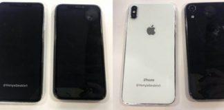 提示された6.5-inch & 6.1-inch iPhone (2018)ダミーユニットのサーフェイス