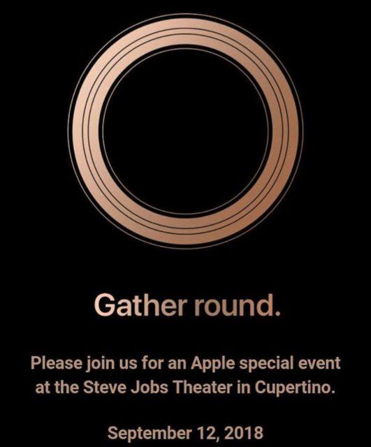 Apple, 2018年iPhoneイベントは9月12日になると正式発表
