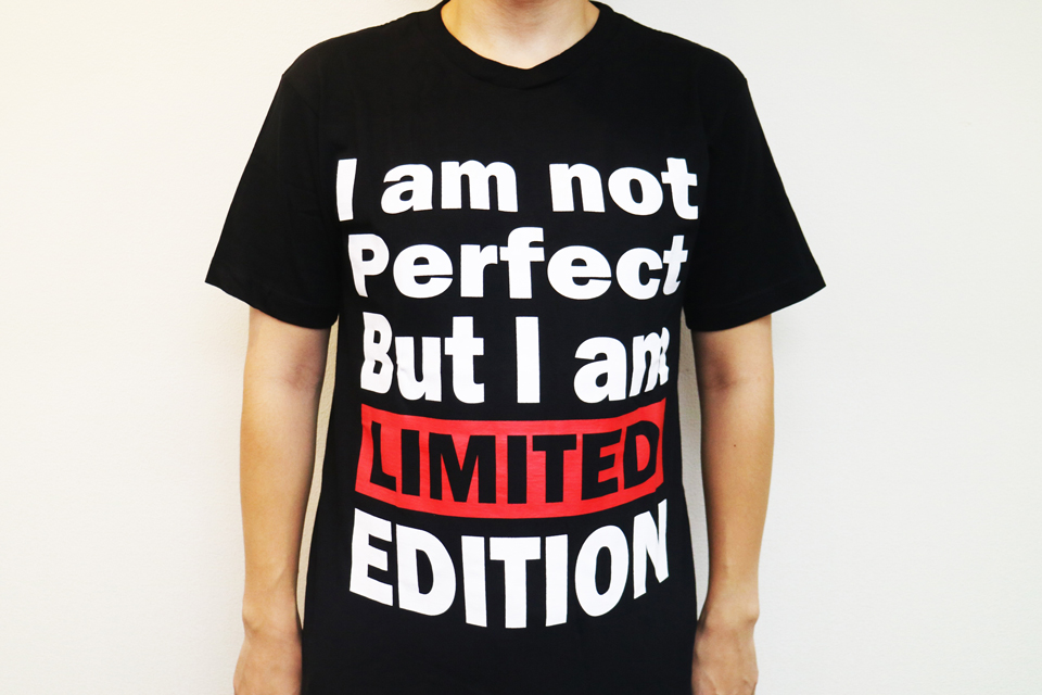 I am not Perfect. But I am LIMITED EDITIONって?